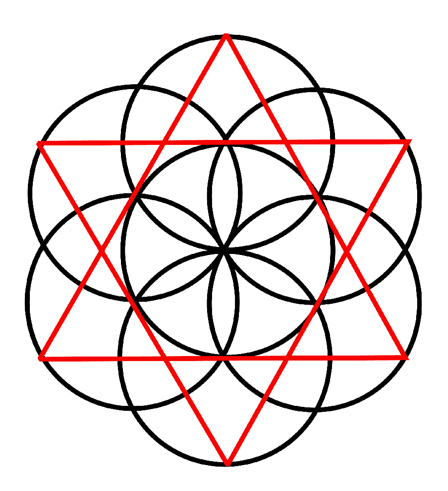 Seed of Life Holiday Ornament - Sacred Geometry - Laser
